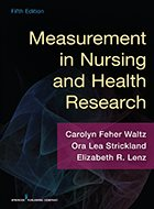 Measurement in Nursing and Health Research - 5th Ed. (2017)