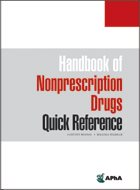 Handbook of Nonprescription Drugs Quick Reference (2019) (1st Ed. LoE)