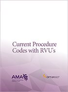 Current Procedure Codes With RVUs (2021)
